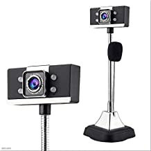 Yuxahiugstx HD 1080P Computer Digital Webcam, Video Conference TV Laptop Video Call Webcam, Built-in Microphone for Distan...