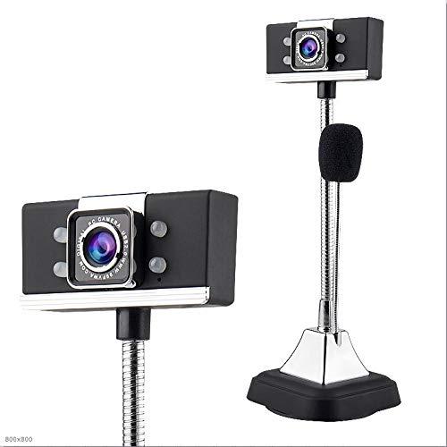 Haoooan 1080P HD Webcam Digital Computer, ordenador portátil de video conferencia de TV llamada de vídeo de webcam, micrófono incorporado for la Educación a Distancia y Aprendizaje, Red Cámara para co