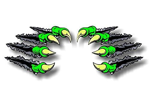 2 Beast Claws Break Through Ripping Thru Metal 11.5' Vinyl Sticker Decals Monster Dinosaur Scratches Decal Stickers