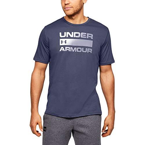 Under Armour Men's Team Issue Wordmark Short Sleeve, Blue Ink (497)/Purple Dusk, X-Large
