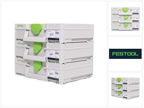 Festool Systainer Set 3x SYS3 M 112 (3x 204840) 7,7 Liter 396x296x112mm Werkzeugkoffer koppelbar