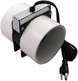 Tjernlund PVC4 Radon Mitigation Fan Model - Exhaust Fan with 6-Ft. Power Cord, Minimal Power Consumption, 4 In. PVC Pipe. Ventilation Fans
