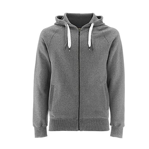 EarthPositive - Unisex Organic Zip-Up Hoodie/Melange Grey, XL