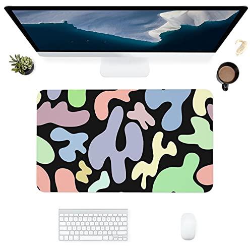 HUBNYO Coloreado spotsLeather - Alfombrilla de escritorio para oficina, superficie lisa, fácil de limpiar, resistente al agua, protector de escritorio para la oficina/juegos en el hogar