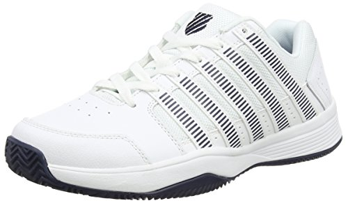 K-Swiss  Court Impact Hb,  Herren Tennisschuhe , Weiß - White (White/Silver/Dressblue 117) - Größe: 44.5