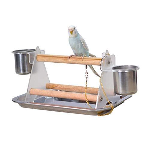 1 set di scaletta per pappagalli, trespolo per pappagalli, trespolo per uccelli, artiglio in gomma, giocattoli divertenti, triangolo acrilico