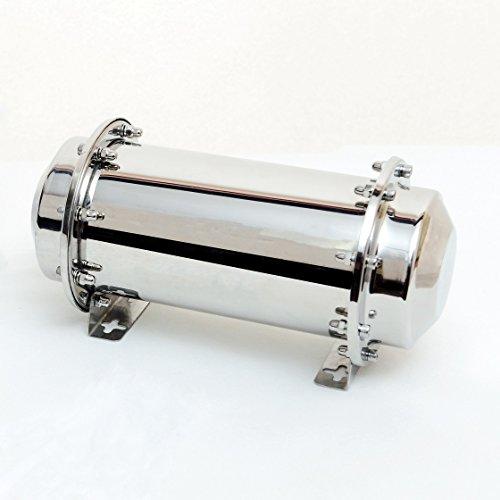 Cápsula del tiempo de acero inoxidable de 25 cm, impermeable y con cierre, contenedor de almacenamiento para el futuro