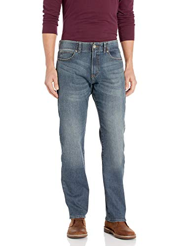Lee Men's Performance Series Extreme Motion Athletic Fit Tapered Leg Jean, mega, 36W x 32L