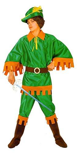 Bloemen Paolo kostuum jurk jurk jurk bekleding masker carnaval kinderen Robin Hood groen Arciere Peter Pan