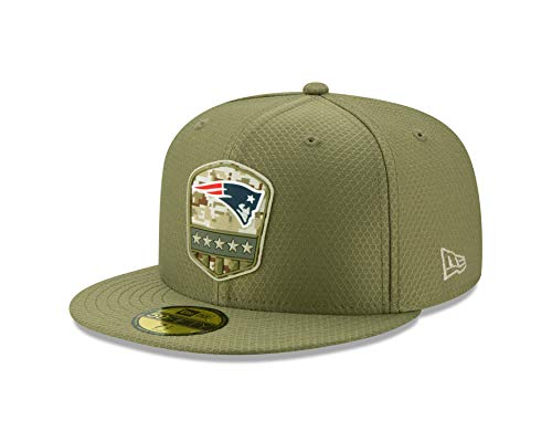 New Era New England Patriots 59fifty Basecap On Field 2019 Salute to Service Olive - 7-56cm