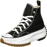Converse Men's Run Star Hike High Top Sneakers, Black/White/Gum, 10 Medium US
