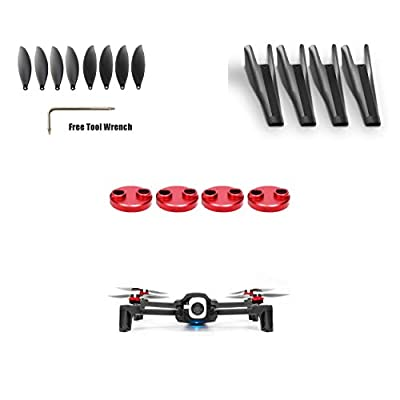 PENIVO 4pcs Motor Protection Cover + 8pcs Propeller/Blades +Landing Gear Set for Parrot Anafi Drone Quadcopter Accessories