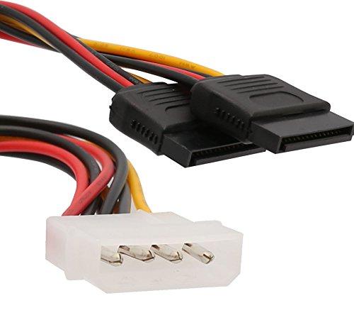 Syba Molex Power to 2 SATA Power Splitter Cabl