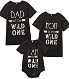 Minseng Direct Wild One Baby Boy Girl 1st Birthday Outfit Family Matching Set (Black,Baby:18-24 Months)