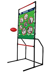 PLAY ANYWHERE: Take this fun toss game with you to the beach, backyard, tailgate, or family gathering to ensure a fun time is had by all.The lightweight design of the Endzone Challenge target toss makes it one of the best portable lawn games out the...