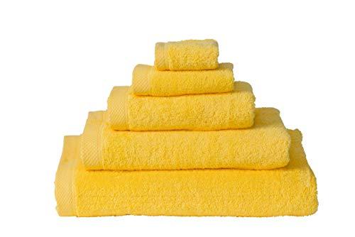 Handdoek 50x100 cm Uni List Geel 10217-4 Stuks (500 gr/m2)
