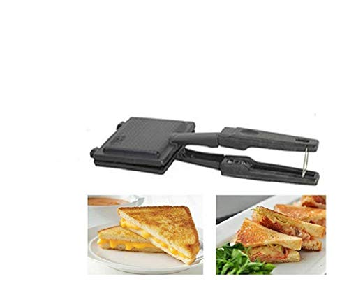 SUPERTEXON Non-Stick Coating King Gas Sandwich Toaster for Home 2-Cut Sandwich Toaster/Gift(Black) 1 PCS