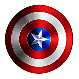 Capitán América Shield Marvel Superhero Metal Handheld Creative Soft Wall Colgante de 18 Pulgadas Capitán América Shield Marvel'S Captain America Halloween Bar Colgante Decoraciones