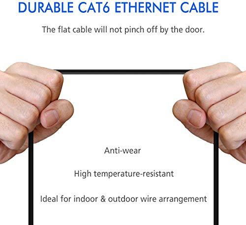 30m- GLCON CAT.6 Ethernet Gigabit Lan Netzwerkkabel (RJ45)--Mit Einem Flachen Design 10 Gbps hakeless RJ45-Stecker lang Slim Ethernet Patchkabel für Xbox/Router/Modem/Switch/Patch Panel (Schwarz)