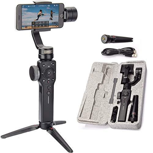 Zhiyun Smooth 4 3 Achsen Handheld Gimbal Stabilisator Elektrisch with Tripod FüR Smartphones iPhone Samsung Galaxy/Action Cam Gopro Hero 5/4/3/2(Schwarz) (Smooth4)