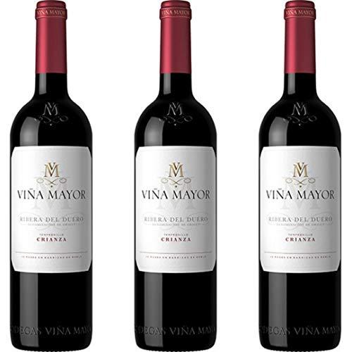 Viña Mayor Vino Tinto Crianza - 3 botellas x 750ml - total: 2250 ml