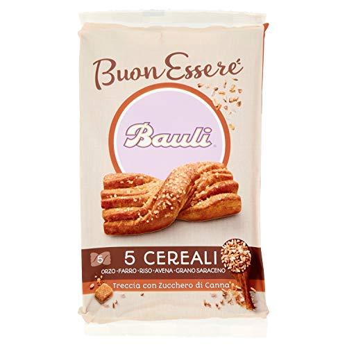 Bauli Buonessere Treccia 5 Cereali con Zucchero di Canna, 5 x 42g