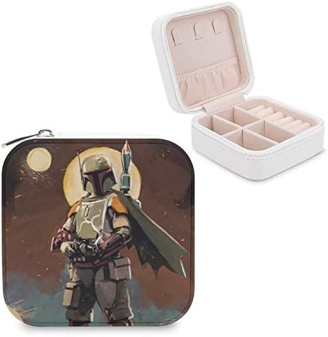 Star War Manda lorian Jewelry Box PU Leather Small Portable Travel Case Art Jewelry Storage product image