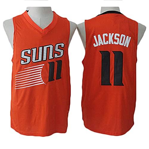 TGSCX Jerseys de Baloncesto de los Hombres, NBA Phoenix Sols # 11 Jackson Jersey, Tejido Fresco Transpirable, Fan de Baloncesto Unisex sin Mangas de Chaleco Deportivo,Naranja,M