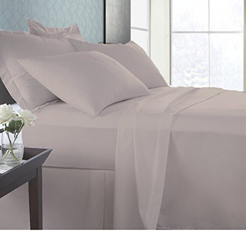 Linen Sheets Super Soft Italian finish fade resistant fabric Premium Quality Bedding Sheet Set 100% Organic cotton GOTS CERTIFIED 600 Thread count with 19' Deep Pocket (Full Taupe)