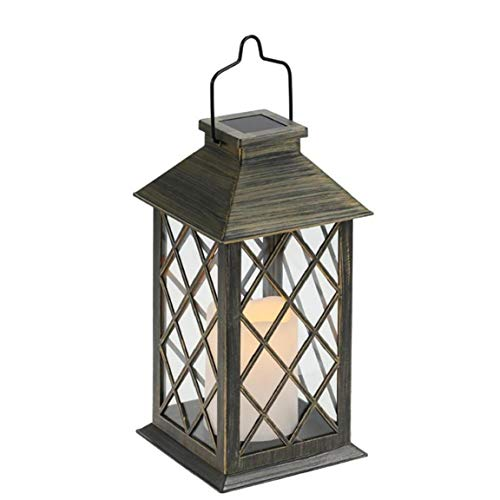 LED Solar Lantern, Outdoor Indoor Hanging Lights Candle Lamp for Patio Courtyard Garden Decorative