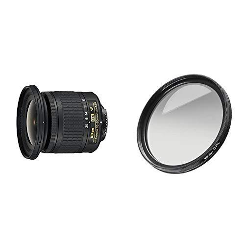 Nikon AF-P DX NIKKOR 10-20 mm 1:4.5-5.6G VR Objektiv schwarz & Walimex Pro Polfilter zirkular MC 72 mm (inkl. Schutzhülle)