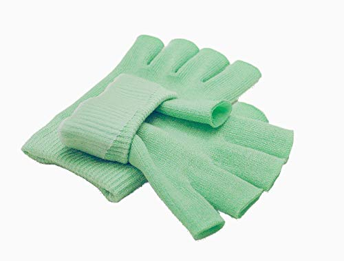 Best Gel Cotton Moisturizing Gloves Touch Screen - Eczema Relief - Heals Dry Skin and Cracked Hands Fast - Anti Aging Hand Treatment - Gel Lining Infused with Essential Oils and Vitamins