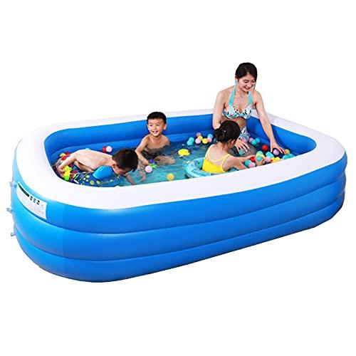 NASTON Piscina Inflable de Gran tamaño para el hogar, Piscina Infantil para bebés, Piscina de Bolas oceánicas, Juego acuático de Verano 180 * 140 * 70 CM,180 * 140 * 70CM