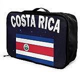 Bolsa de Viaje Grande portátil con Bandera de Costa Rica