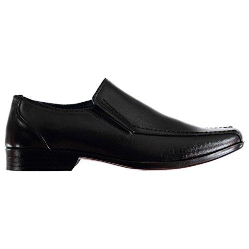 Giorgio Bourne Kinder Schuhe Slipper Schulschuhe Smart Slip On Halbschuhe Schwarz 5 (38)