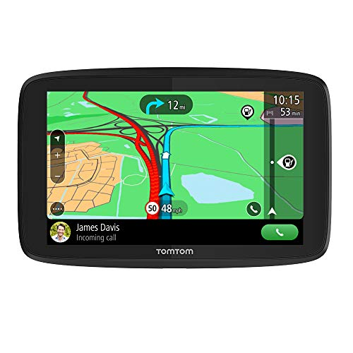 TomTom Car Sat Nav GO Essential, 6 Inch, with Traffic Congestion and Speed Cam Alert trial thanks to TomTom Traffic, EU Maps, Updates via WiFi, Handsfree Calling, Click-And-Drive Mount