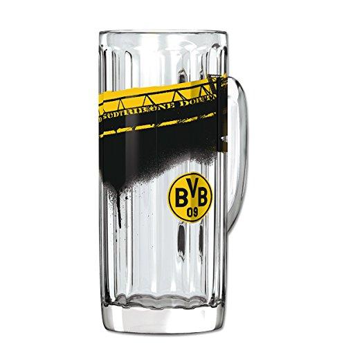 Borussia Dortmund glas/bierglas/bierpul/bierpul plus gratis sticker forever Dortmund