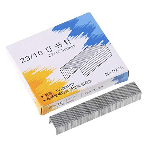 luosh Grapas estándar, 1000 Piezas/Caja, Grapas de Metal Resistentes 23/10 para Grapadora, Material Escolar, papelería