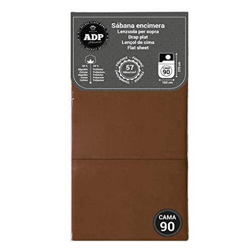 ADP Home - Sábana encimera (para Cama de 90 cm), Chocolate
