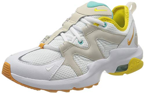Nike Damen AIR MAX GRAVITON Sneaker, Weiß (White/Amber Rise-Aurora Green 107), 40.5 EU