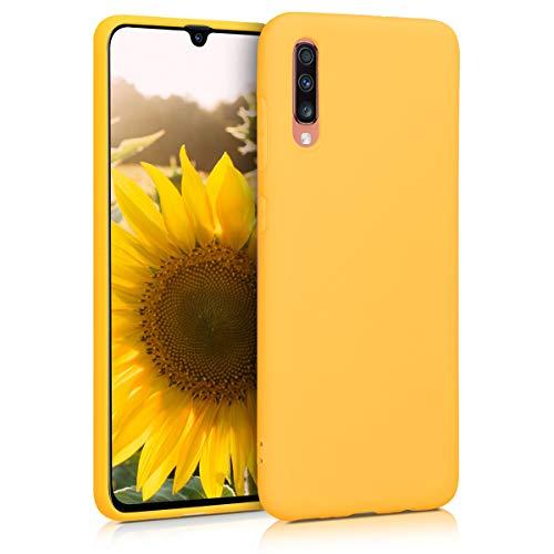 kwmobile Funda Compatible con Samsung Galaxy A70 - Carcasa de TPU Silicona - Protector Trasero en Amarillo Miel