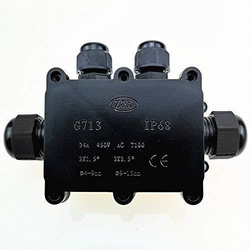 Caja de Conexiones Caja de Conexiones Impermeable de pl/ástico M686 Cable para Exteriores Caja de Conexiones el/éctricas Tipo H de 4 v/ías Conector de Cable IP68