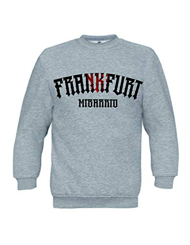 Mi Barrio Frankfurt Adler 1 Sweatshirt, grau, schwarz, weiß, rot (3XL, Grau)