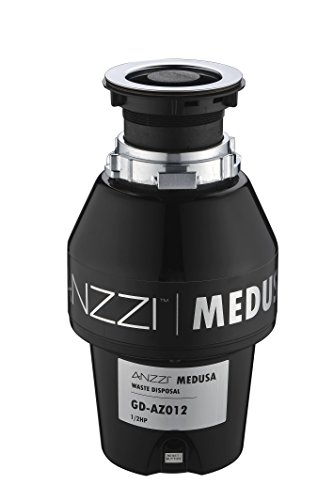 ANZZI Medusa 1/2 HP Sink Garbage Disposal for Kitchen | 2600 RPM Stainless SteelFood Disposal...