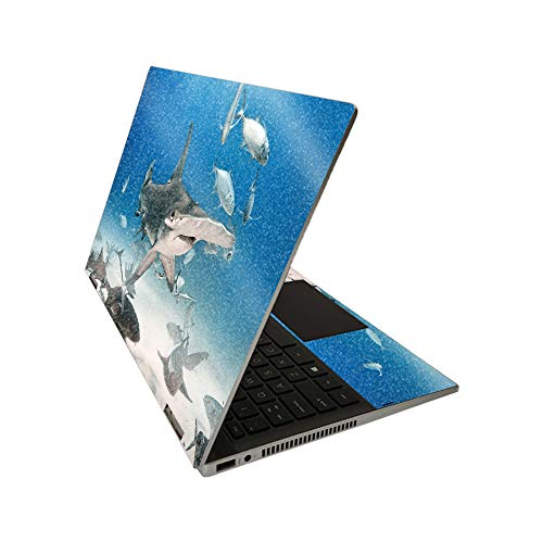 MightySkins Glossy Glitter Skin for HP Pavilion x360 14' (2020) - Hammerhead | Protective, Durable High-Gloss Glitter Finish | Easy to Apply, Remove, and Change Styles | Made in The USA