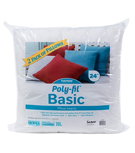 Fairfield Poly-Fil Basic Pillow Inserts (2 Pack), 24