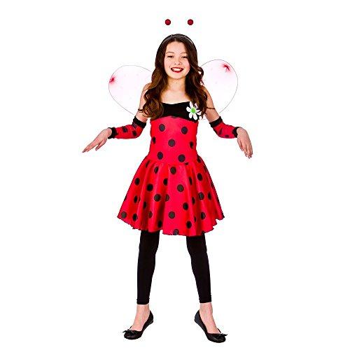 Girls Red Lovely Ladybug/Ladybird Fancy Dress Costume