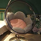 Cojines para silla tipo hamaca con forma de huevo para colgar, cojines para silla con cesta colgante redonda suave, cojín grueso para silla para el suelo, funda extraíble, para patio, jardín, rosa,