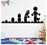 Spaß lego Evolution Roboter Pacman Pvc Wandtattoos