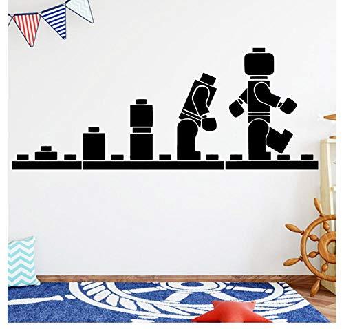 Spaß lego Evolution Roboter Pacman Pvc Wandtattoos Wohnkultur Für Kinderzimmer Wandaufkleber Wasserdichte Tapete 30 cm X 75 cm